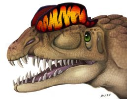 Dilophosaurus Head 2014 by Blairaptor
