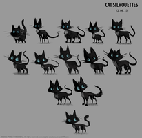 Sidhe - Character Development 03 - Silhouettes by Cryptid-Creations