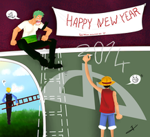Happy New Year 2014 ! by HoshiDKCrow