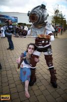 Little Sister and Big Sister - Bioshock by Paper-Cube