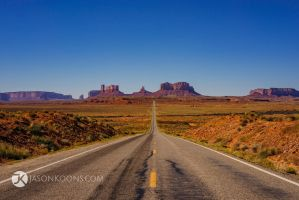 Open Road | Monument Valley by JasonKoons