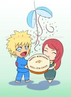 Minato x Kushina birthday card | COLLABORATION by MajorasMasks