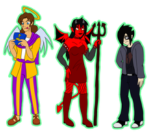 PC-Jesus, Satan and the Emo by Jopale-Opal