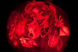 Twisted Alice In Wonderland Pumpkin 2013 by DistantVisions