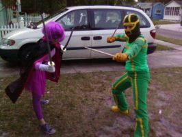 Kick-Ass and Hit-Girl by ThatOtherFangirl