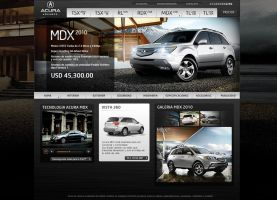 acura mexico web design by diego64