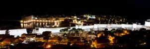 Dubrovnik old city by night by DegsyJonesPhoto