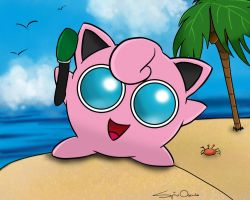 Holiday with Jigglypuff by SpinaOscura