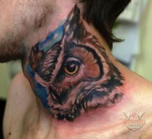 Ivan Realistic Owl by HammersmithTattoo