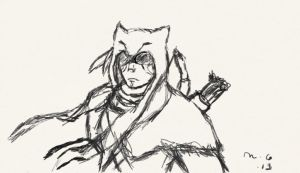 Connor Wolf Sketch by Winry124930