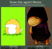 Draw This Again meme by zoruku
