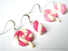 Candy earrings by quaint-dame