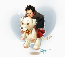 Young Conner and Krypto by Ernz1318