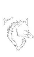 Free wolf head lineart by GalaxyCrowButt