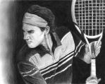 Roger Federer Drawing by DarkArrow95
