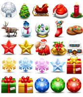 Free Christmas icons Set by FreeIconsFinder