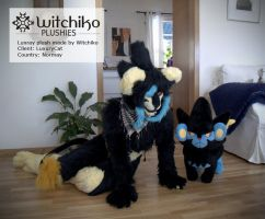 Luxray Plush:::Client by Witchiko