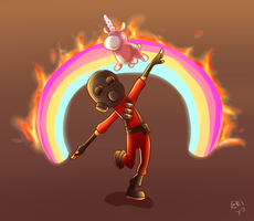 Pyro vs. the Forces of Evil by Eri-Yo