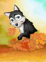 Play in the leaves by Dea-Art