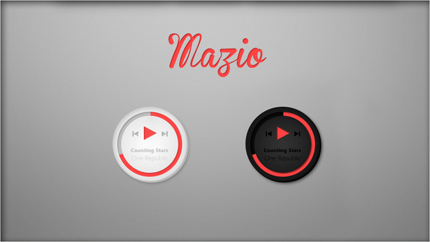Mazio Music Player. [Rainmeter Skin] by jlynnxx