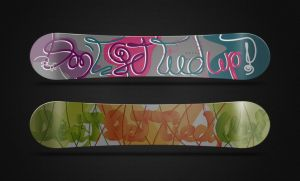 Snowboard lettering by MCVisuals