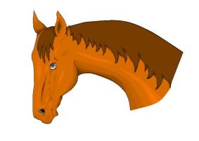 Horse from MSpaint by Vissenna