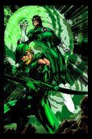 Green Arrow Lantern Jim Lee-ME by JamesLeeStone