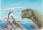 Triassic Chinese Monsters by Xiphactinus