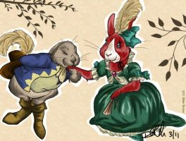 Emily and Louis Rabbits by balba-bunny