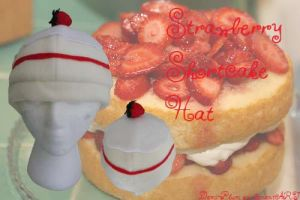 Strawberry Short Cake Hat by Demi-Plum