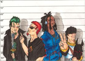 Usual Suspects: Males COLOR'D by ZephronScythe