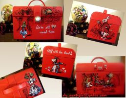 Alice in WOnderland on Box Bag by alcat2021