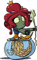 PVZHeroes - Neptuna by DevianJp824