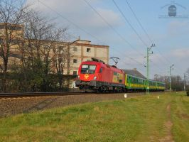 1116 064 with a passenger train by morpheus880223