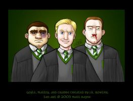 Goyle, Malfoy, and Crabbe by heymatt