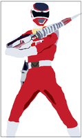 Red Space Power Ranger by chucktree