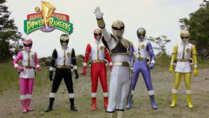 Thunder Morphin' Power Rangers by Andr-uril