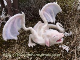 Needle felted baby dragon by sheeps-wing