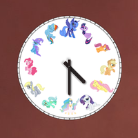 Pony Clock (Windows Gadget) V1 by genstian