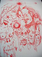 zombie faces by BYRONvonREMPEL
