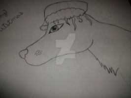 Christmas pup _late_ by MsBritten