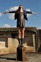 Taryn on her plinth 1 by wildplaces