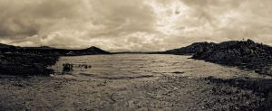 Dam Pano BnW by TheSoftCollision
