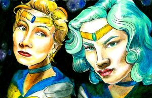 Uranus and Neptune by senf-a