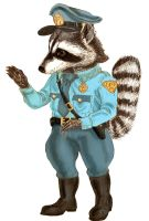 Officer Raccoon by marcgosselin