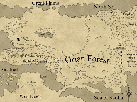 Map of Sorion by Eweeka