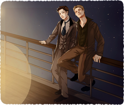 DC Titanic!AU: Starry Night by nella-fantasiaa