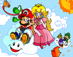 Riding the Clouds with Mario by JamesmanTheRegenold