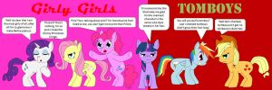 Tomboys and Girly Girls and Ponies by beats0me
