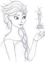 Elsa and an Oscar by JasminSC